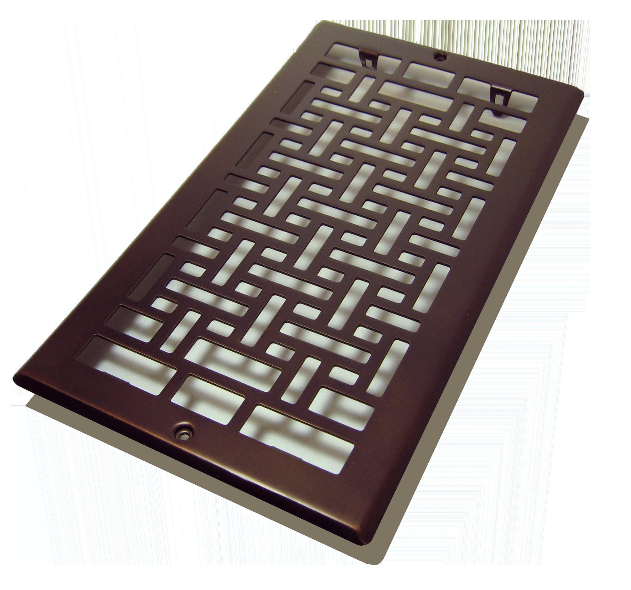6 X12 Oriental Plated Steel Floor Register Oil Rubbed Bronze